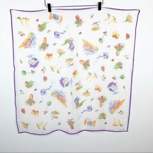 Echo | Silk Gardening Print Silk Scaft